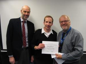 NPESC Award Ben Murray 17 Dec 2015