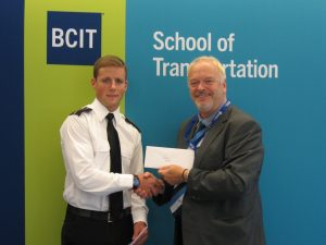 Jeremy Botel Capt Smith VTF.NIBC Scholarship Award June 2016 (2)